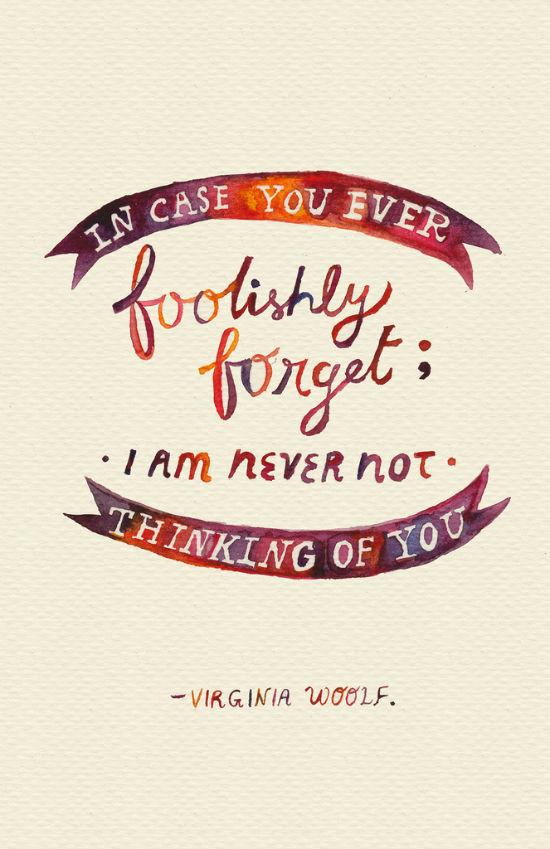 Virginia Woolf Quote by Mei Lee