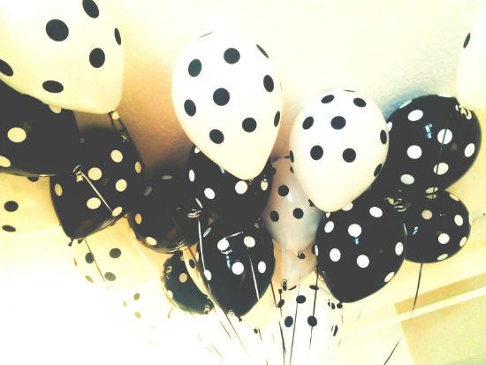 Black and White Polka Dot Balloons