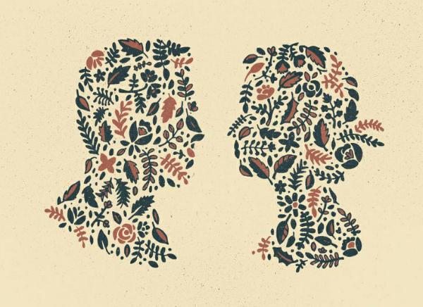 Floral Silhouette - David M Smith