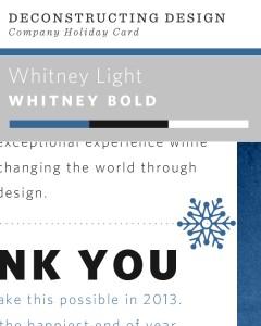 Deconstructing Design - Sevenality Holiday Card