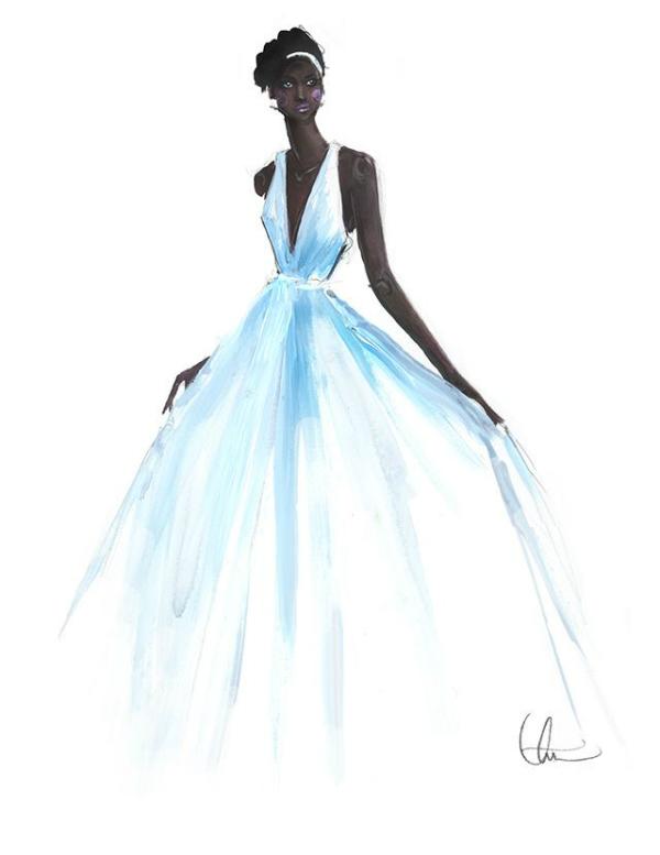 Lupita Illustration - Paper Fashion