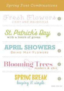 Spring Font Combinations - Studio 404