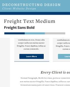 Deconstructing Design - Client Website Design