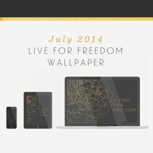 July 2014 Wallpaper - Freedom