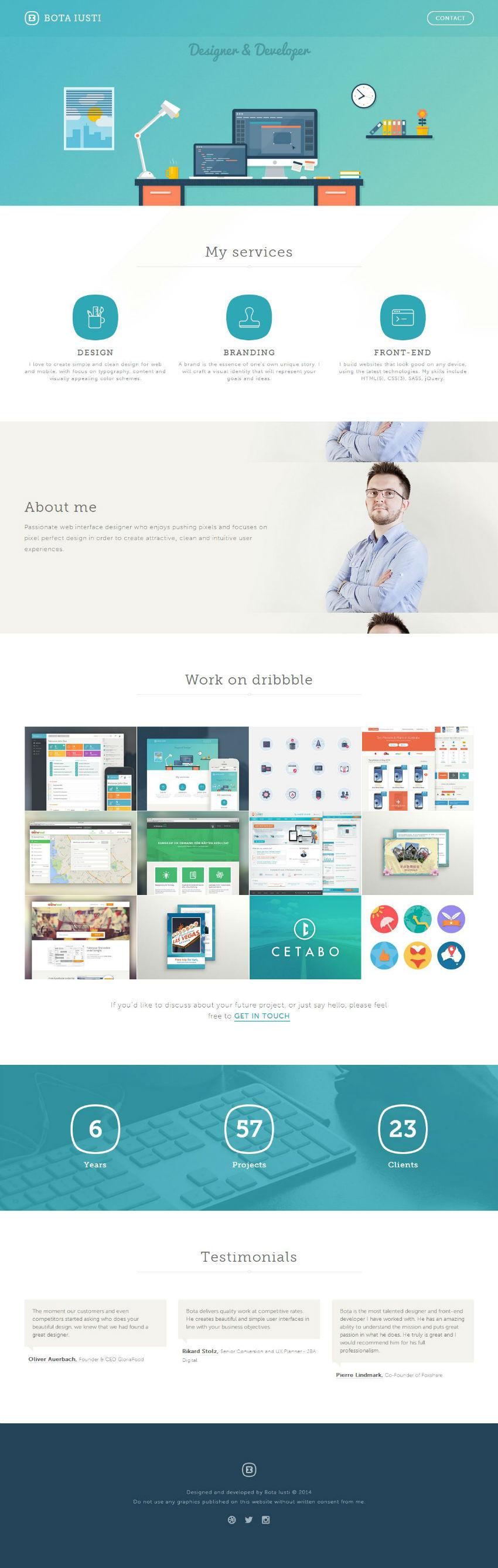 Bota Iusti - Designer and Front-end Developer