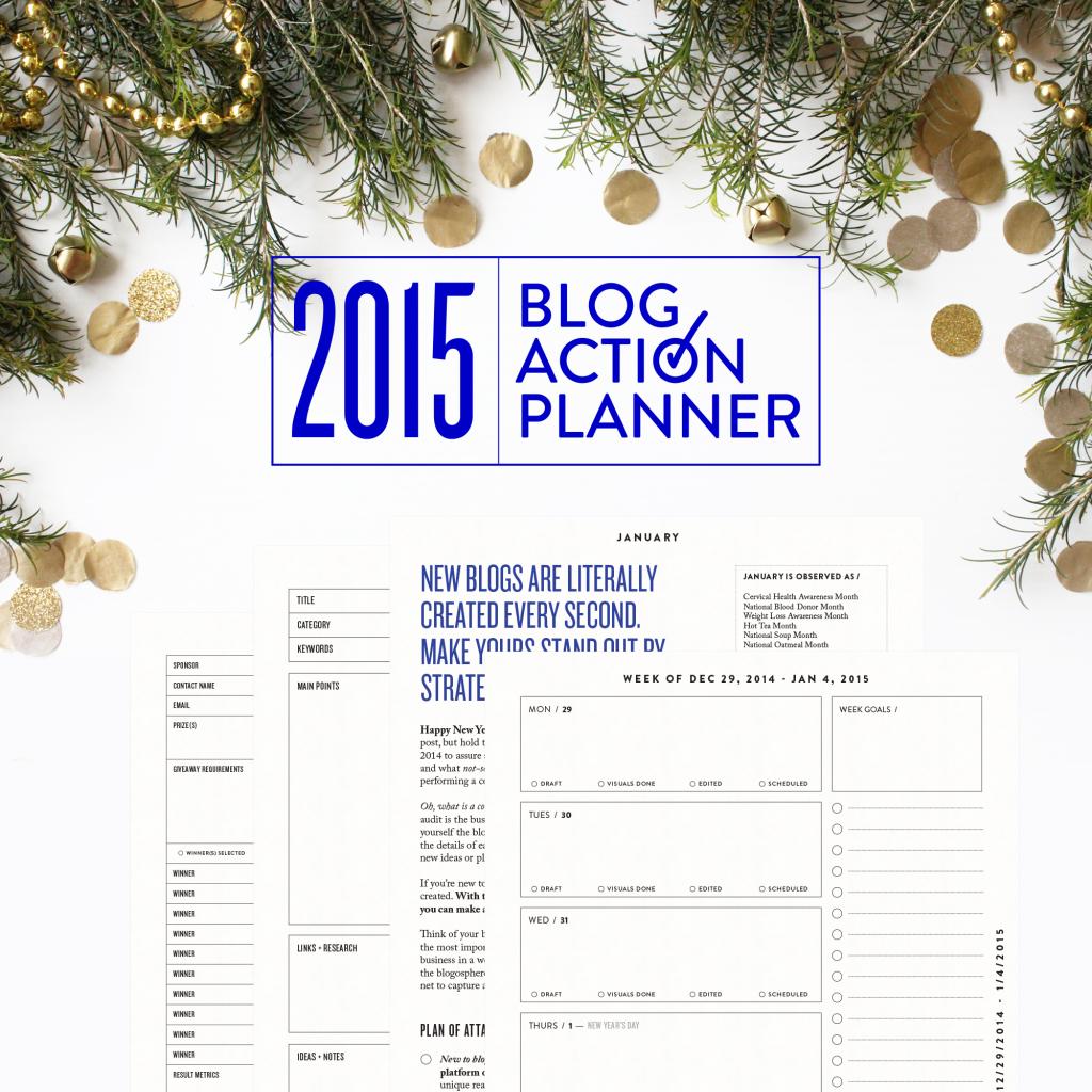 2015 Blog Action Planner