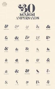 30 Sexiest Ampersands - Spoon Graphics