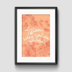 Bloom Vintage Floral Print - Studio 404 Paper