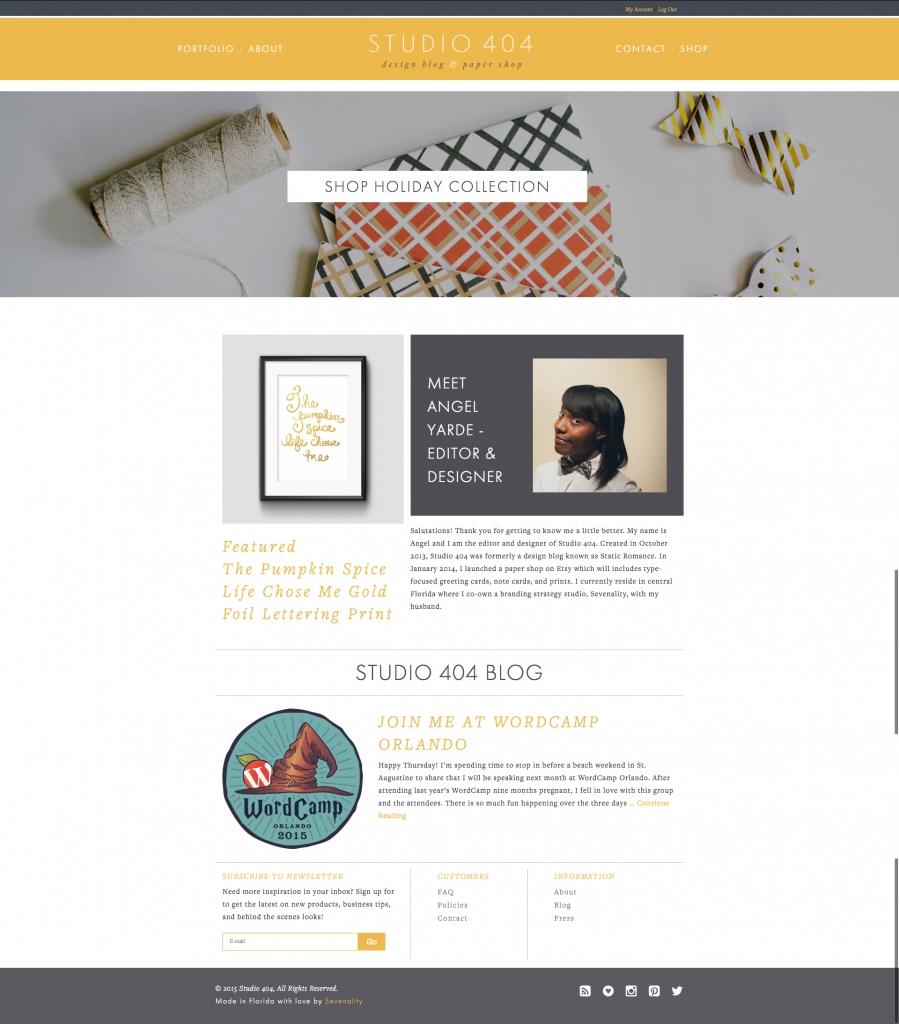 Studio 404 Homepage