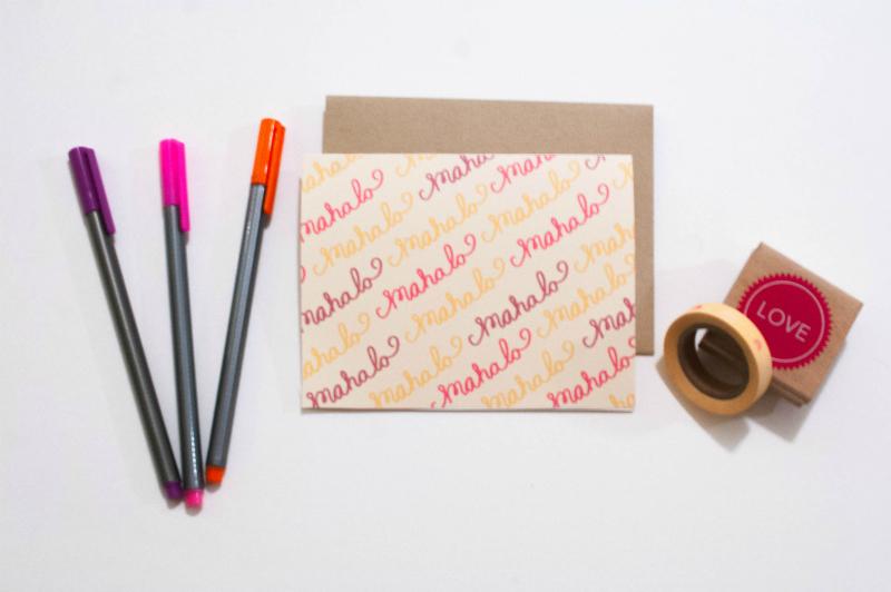 Mahalo Thank You Card - Studio 404 Paper