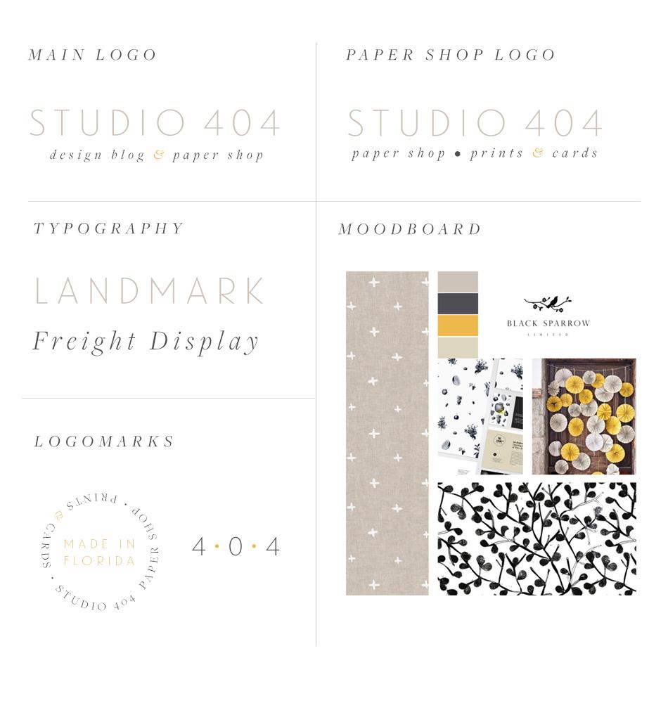 Studio 404 Brand Board
