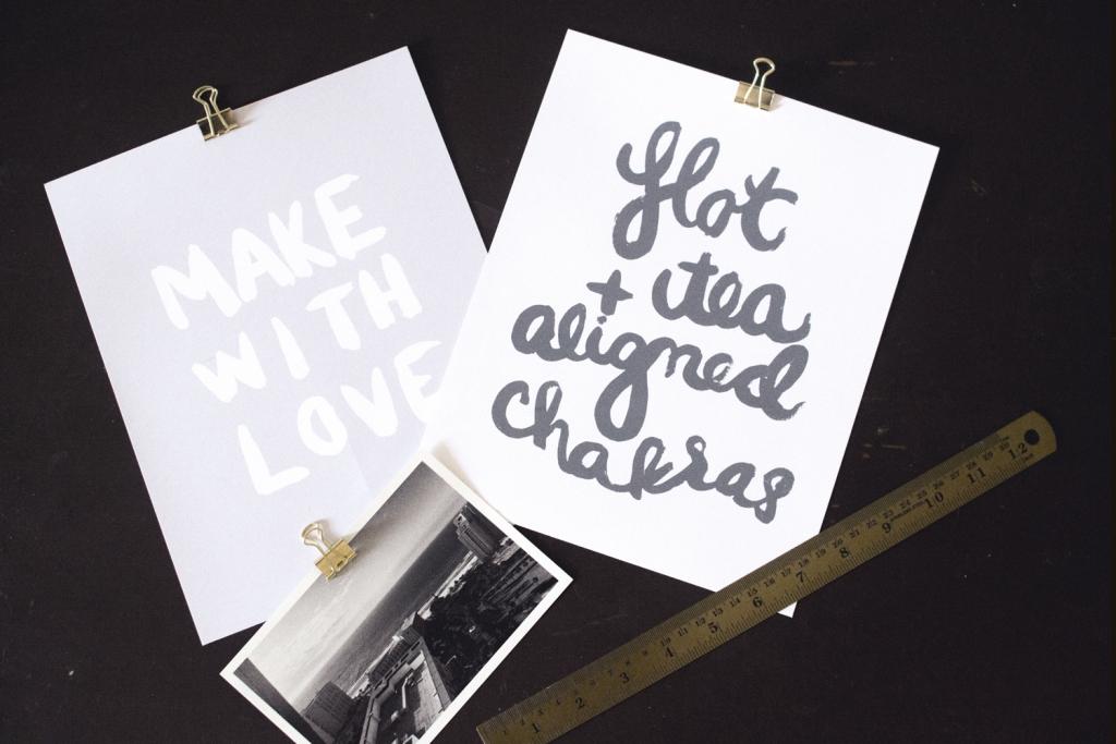 Brush Lettered Prints - Studio 404 Paper