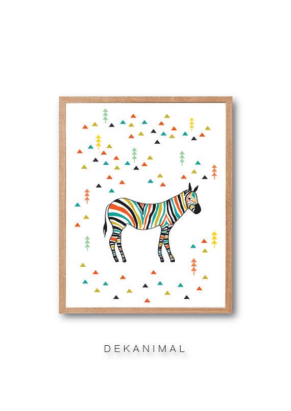 Zebra in the Forest - dekanimal