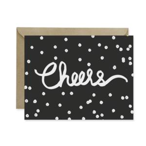 Cheers Black Holiday Card - Studio 404 Paper