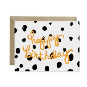 Happy Birthday Polka Dots Greeting Card - Studio 404 Paper