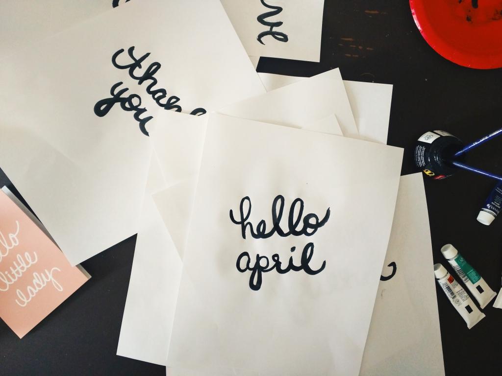 Hello April Lettering - Studio 404