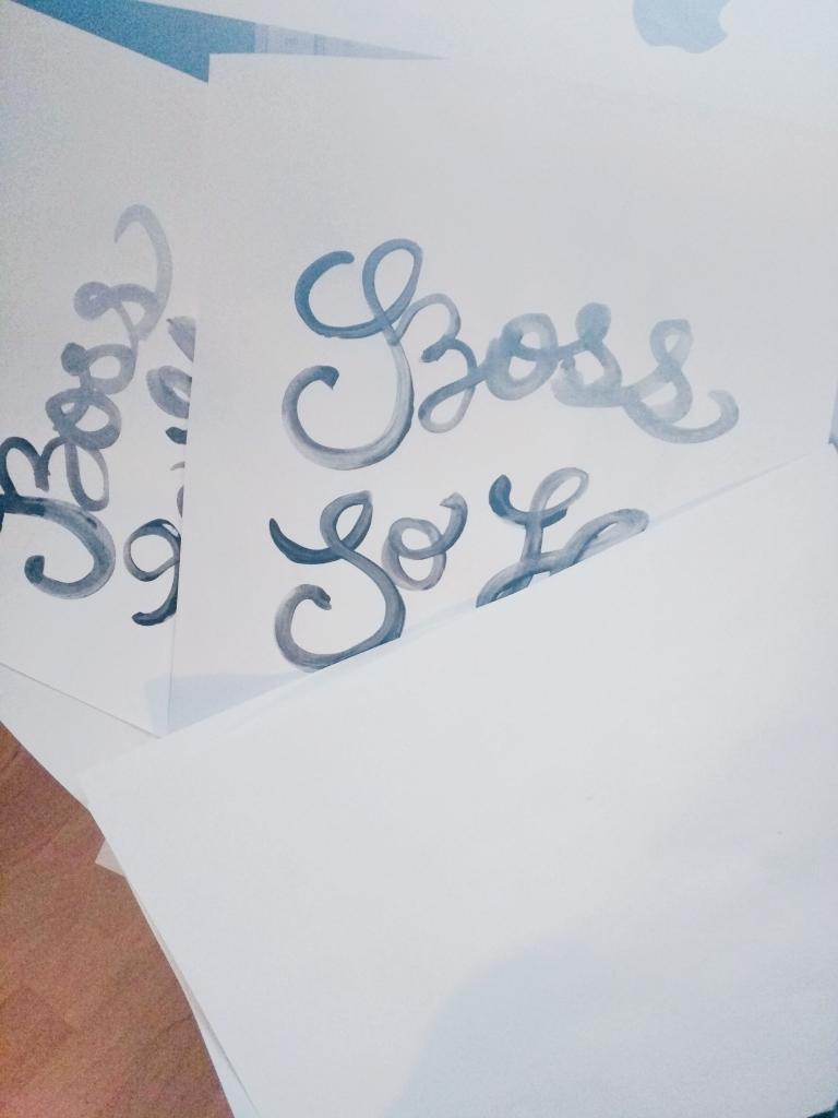 Boss So Hard Lettering - Studio 404
