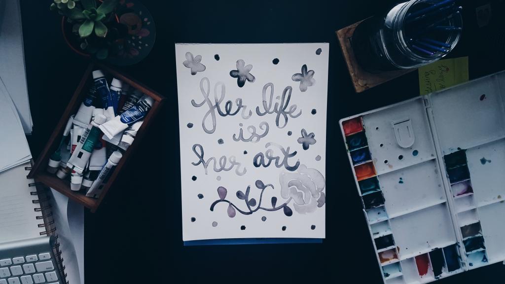 Her Life is Her Art Watercolor Original
