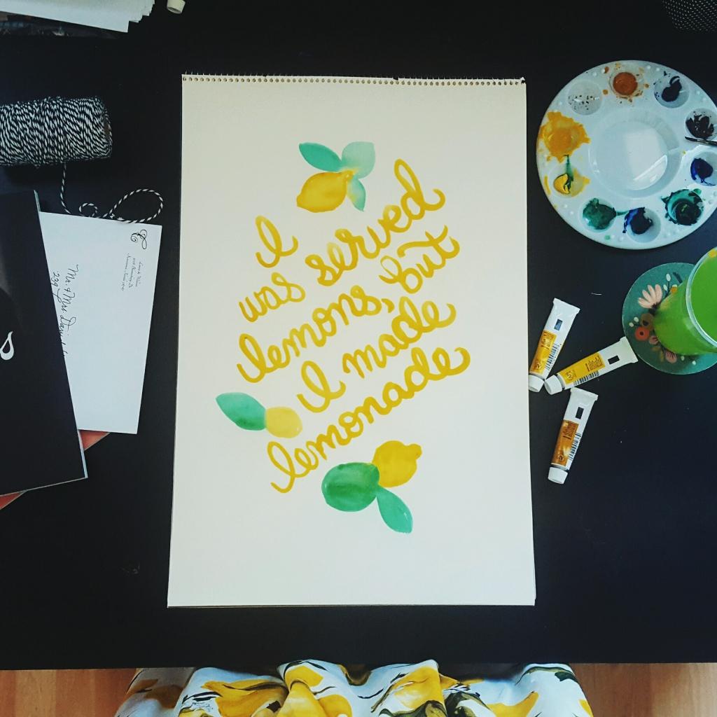 Lemonade Watercolor Original - Studio 404 Paper