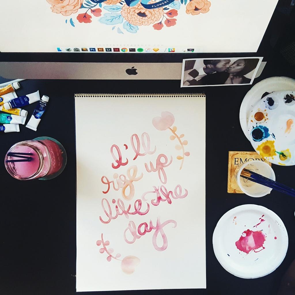 Rise Up Watercolor Original - Studio 404 Paper
