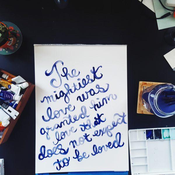 The Mightiest Love Original Watercolor