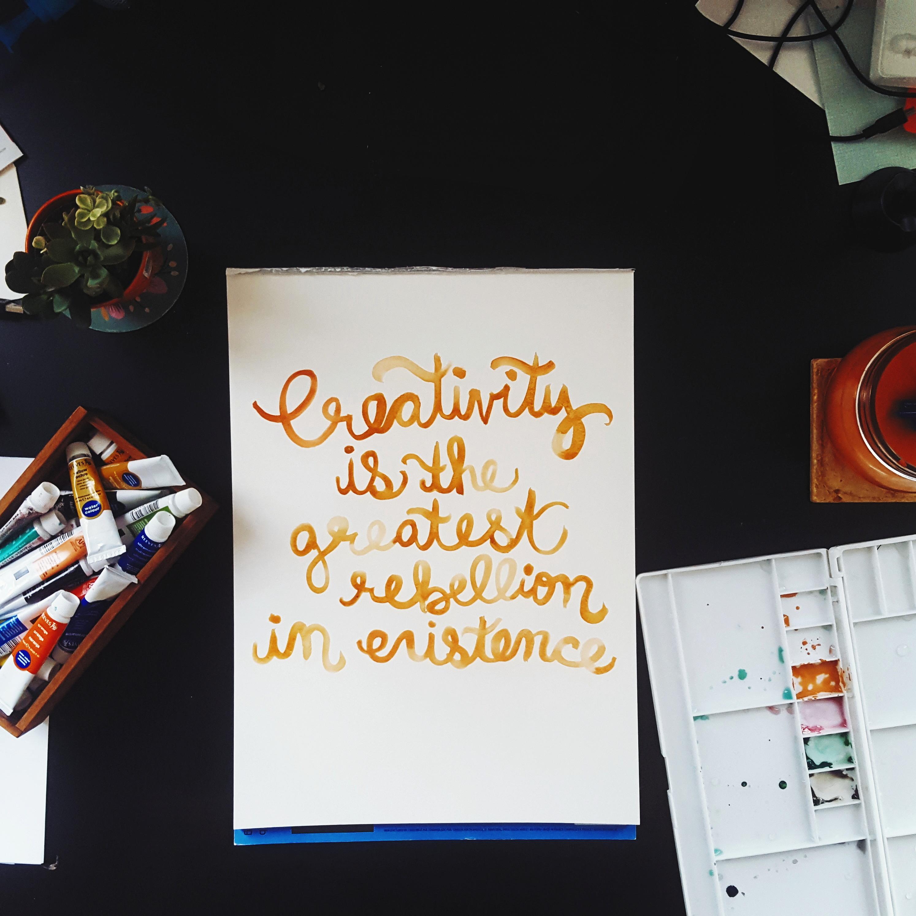 Creativity is Rebellion Original Watercolor