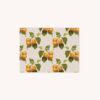 Notecard featuring apricot botanical illustration pattern