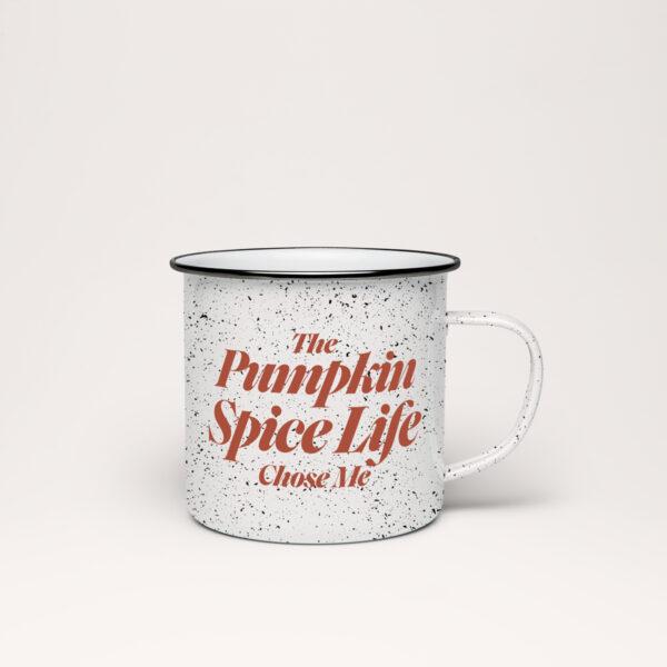 Pumpkin Spice Life Chose Me Speckle Mug