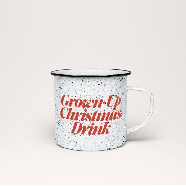 Grownup Christmas Drink Speckle Mug